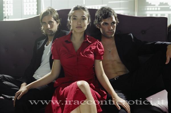 Donna con due uomini