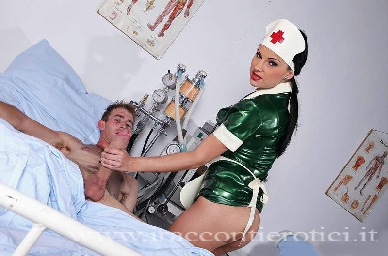 crocerossina fa una sega al paziente
